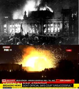 Erdogan - mini Hitler na Bosforu - Paljenje Rajhstaga i eksplozija u turskom parlamentu