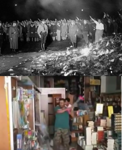 Erdogan - mini Hitler na Bosforu - Paljenje knjiga