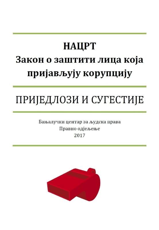 Prijedlozi i sugestije - Zakon o zastiti lica koja prijavljuju korupciju - Dejan Lučka