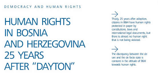 Human Rights in Bosnia and Herzegovina 25 Years After Dayton